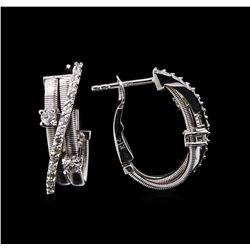 0.52 ctw Diamond Earrings - 14KT White Gold
