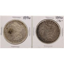 Lot of 1896 & 1896-O $1 Morgan Silver Dollar Coins