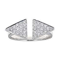 0.36 ctw Diamond Ring - 18KT White Gold