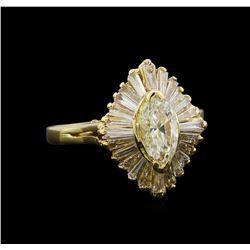 1.50 ctw Diamond Ring - 14KT Yellow Gold