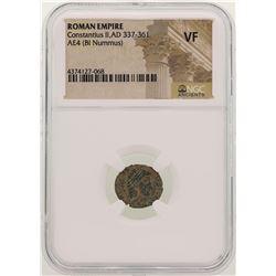 Constantius ll 337-361 AD Ancient Roman Empire Coin NGC VF
