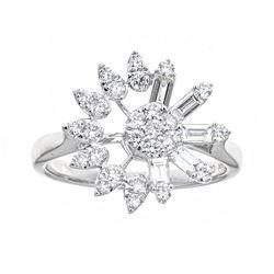 0.8 ctw Diamond Ring - 18KT White Gold