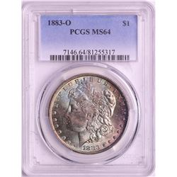 1883-O $1 Morgan Silver Dollar Coin PCGS MS64 AMAZING TONING