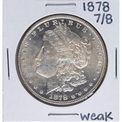 1878 7/8 Weak $1 Morgan Silver Dollar Coin