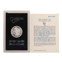 1885-CC $1 Morgan Silver Dollar Uncirculated Coin GSA w/ COA