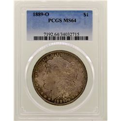 1889-O $1 Morgan Silver Dollar Coin PCGS MS64