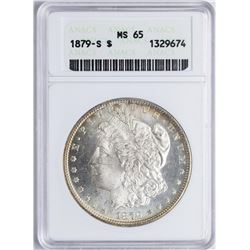 1879-S $1 Morgan Silver Dollar Coin ANACS MS65