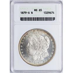 1879-S $1 Morgan Silver Dollar Coin ANACS MS65