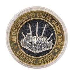 .999 Silver Stardust Resort Las Vegas, Nevada $10 Casino Limited Edition Gaming