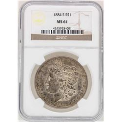 1884-S $1 Morgan Silver Dollar Coin NGC MS61