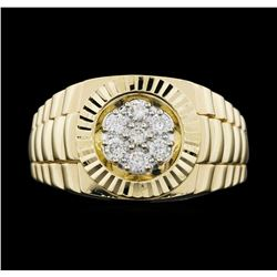 14KT Yellow Gold Ladies 0.30 ctw Diamond Ring