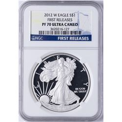2012-W $1 American Silver Eagle Dollar Coin PCGS PF70 Ultra Cameo First Releases