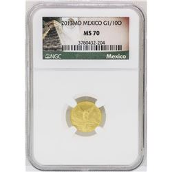 2013MO Mexico 1/10 oz. Mexico Libertad Gold Coin NGC MS70