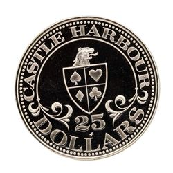 Castle Harbour Club & Casino 14.5 gram .925 Sterling Silver Gaming Token