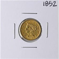 1852 $2 1/2 Liberty Head Quarter Eagle Gold Coin