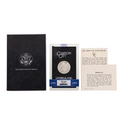 1880-CC $1 Morgan Silver Dollar Coin w/ Box GSA & COA NGC MS62