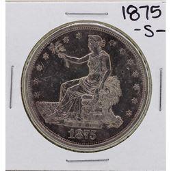1875-S $1 Trade Silver Dollar Coin