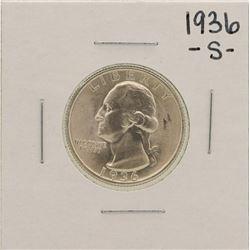 1936-S Washington Silver Quarter Coin