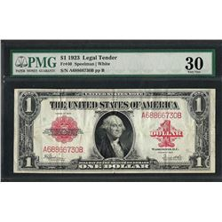 1923 $1 Legal Tender Note Fr.40 PMG Very Fine 30