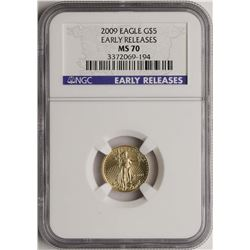 2009 $5 American Gold Eagle Coin NGC MS70 Early Releases