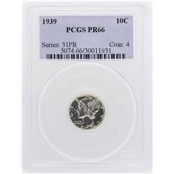 1939 Proof Mercury Dime PCGS PR66