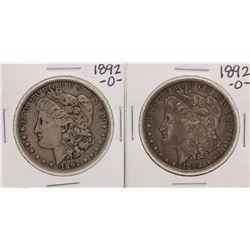 Lot of (2) 1892-O $1 Morgan Silver Dollar Coins