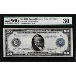 1914 $50 Federal Reserve Note Fr.1039a PMG Very Fine 30