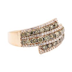 14KT Rose Gold 1.45 ctw Diamond Ring