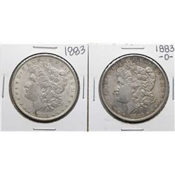 Lot of 1883 & 1883-O $1 Morgan Silver Dollar Coins