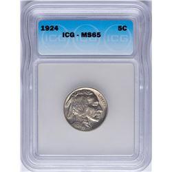 1924 Buffalo Nickel Coin ICG MS65