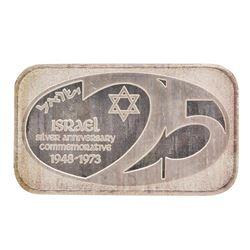 1973 Israel 1 oz .999 Fine Silver Art Bar