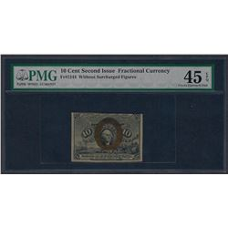 1863 10 Cent Second Issue Fractional Currency Note PMG Choice Extremely Fine 45E
