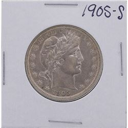 1905-S Barber Half Dollar Coin