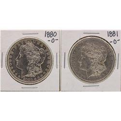 Lot of 1880-O & 1881-O $1 Morgan Silver Dollar Coins