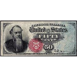 March 3, 1863 Fourth Issue Fifty Cent Fractional Currency Note