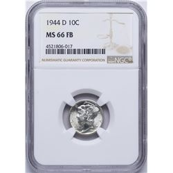 1944-D Mercury Dime Coin NGC MS66FB
