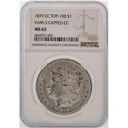 1879-CC $1 Morgan Silver Dollar Coin Top-100 NGC MS62