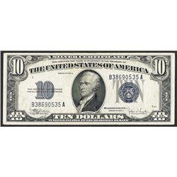 1934C $10 Silver Certificate Note