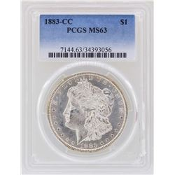 1883-CC $1 Morgan Silver Dollar Coin PCGS MS63