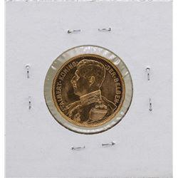 1914 Belgium King Albert 20 Francs Gold Coin