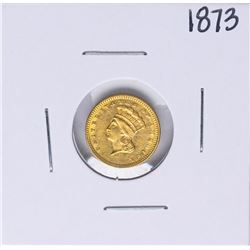 1873 Open 3 $1 Indian Princess Head Dollar Gold Coin