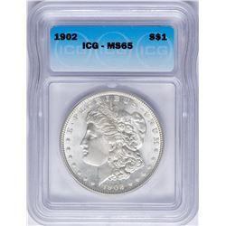 1902 $1 Morgan Silver Dollar Coin ICG MS65