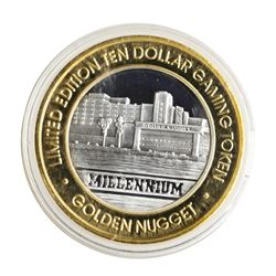 .999 Silver Golden Nugget Laughlin, Nevada $10 Casino Limited Edition Gaming Tok