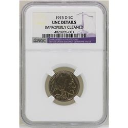 1915-D Buffalo Nickel Coin NGC Uncirculated Details