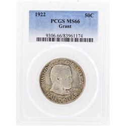 1922 Grant Memorial Commemorative Half Dollar Coin PCGS MS66