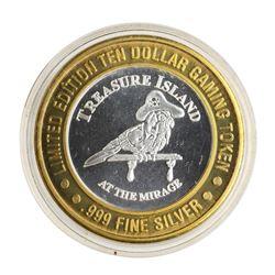 .999 Silver Treasure Island Las Vegas, Nevada $10 Casino Limited Edition Gaming
