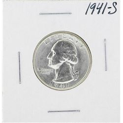 1941-S Washington Quarter Coin