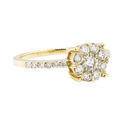 14KT Yellow Gold 0.70 ctw Diamond Ring