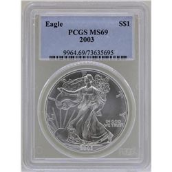 2003 $1 American Silver Eagle Coin PCGS MS69