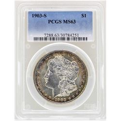 1903-S $1 Morgan Silver Dollar Coin PCGS MS63